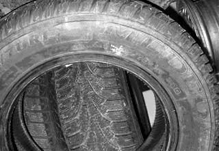 Кольцевой излом боковой стенки покрышки при эксплуатации шины с пониженным давлением