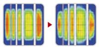 Технология Kumho: Равномерное распределение давления в пятне контакта шины с дорогой