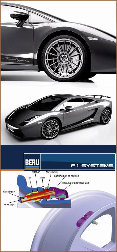 Lamborghini выбирает системы мониторинга состояния шин Beru F1 Systems