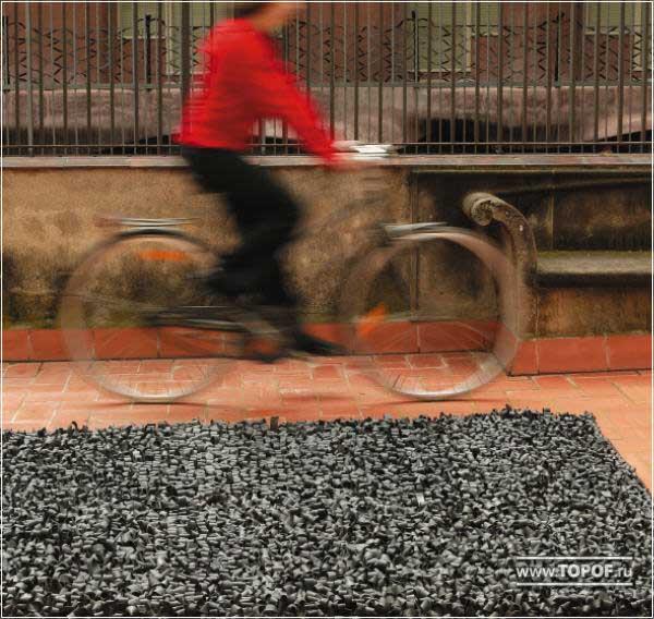 Ковер из велосипедных камер