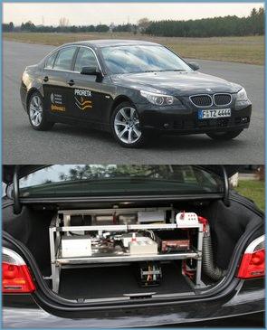 Тестовый автомобиль BMW проекта Proreta