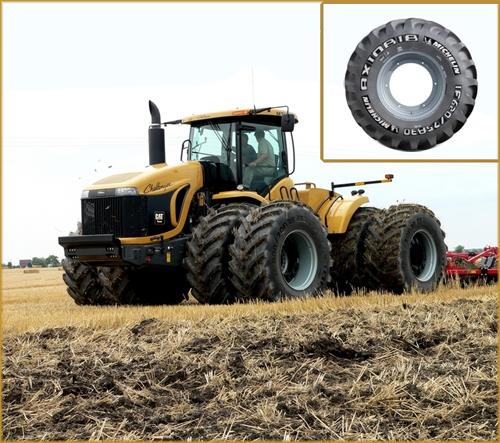 Michelin AxioBib устанавливается в качестве первичной комплектации на огромый трактор Challenger MT975 мощностью 570 лошадиных сил