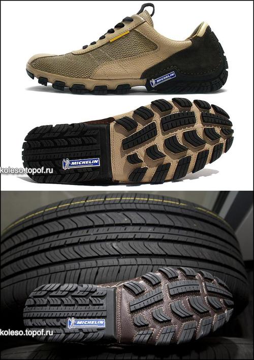Вдохновленное дизайном новых шин Michelin Primacy MXV4 отделение компании Michelin Footwear, предложило необычную обувь MXV4