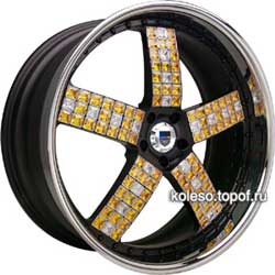 Легкосплавный колесный диск Asanti с драгоценными камнями