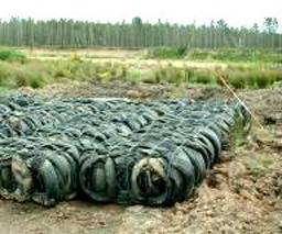 Брикетированные шины обеспечивают хорошие основания для строительства