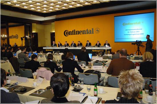 Continental за 2006 г. увеличила чистую прибыль на 5,6% - до 981 млн евро.