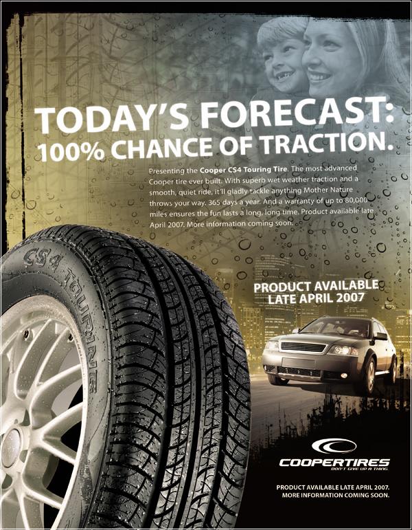 Cooper объявляет о создании новых шин CS4 Touring