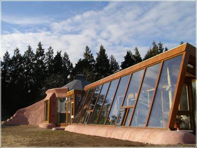 Экологически безопасный дом из использованных шин