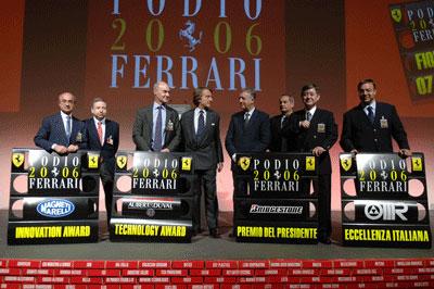 Bridgestone получает Президентскую награду на Podio Ferrari 2006